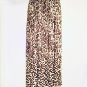 NWT!!! Michael Kors | Maxi Pleaded Skirt -(XL)